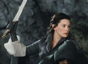 Arwen et Hadhafang
