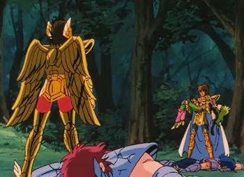 Pegasus Seiya vs. Leo Aioria