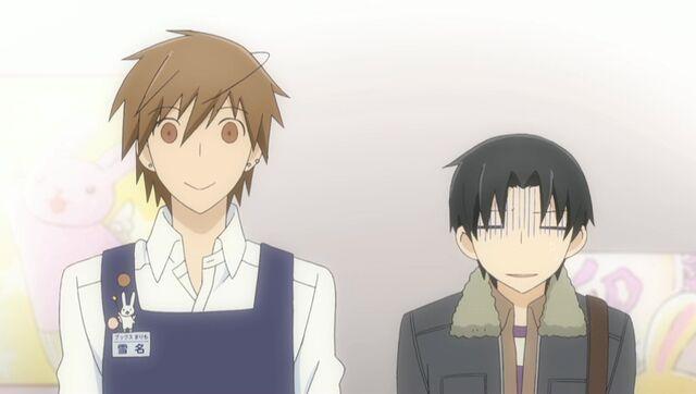 File:Yukina and Kisa looking at Yukina's display ep09.jpg