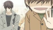 Ritsu suddenly alone in an elevator with Takano ep07