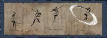 Приём боевого искусства в прыжке