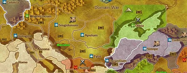 World map - Brutii territory