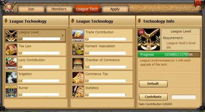League tab League Tech