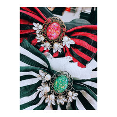 Brooches on Ai Kayano and Yoshino Nanjō's costumes
