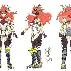 Kanade's Dragon gear Concept Art