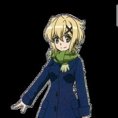 Kirika's school uniform in <i>XV</i>.