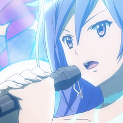 Tsubasa singing on stage