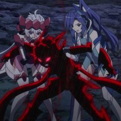 Chris and Tsubasa tries to stop Hibiki