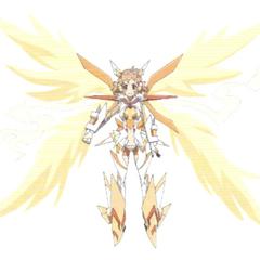 Hibiki's Symphogear in X-Drive form in <i>G</i>.