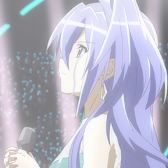 Tsubasa crying on stage