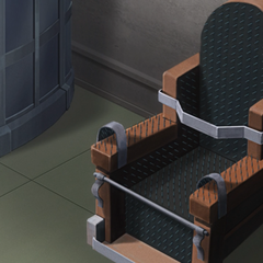 Finé's iron chair.