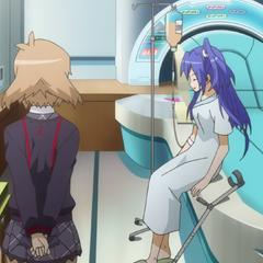Hibiki and Tsubasa in the hospital