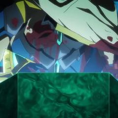 Enki's injured body