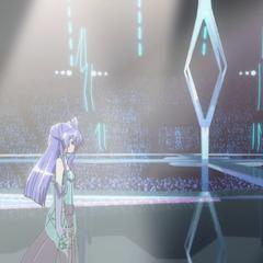 Tsubasa going on stage