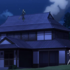Phara destroy part of the mansion to lure Tsubasa