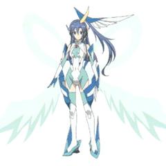 Tsubasa's Symphogear in X-Drive form in <i>G</i>.