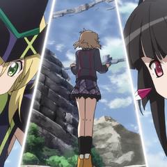 Kirika and Shirabe yelling at Hibiki