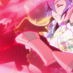 Hibiki is half-way to being berserk upon releasing her Barrier Coating