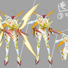 Concept art for Kanade's X-Drive form