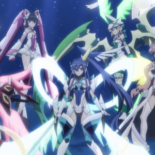 Tsubasa's, Chris', Maria's, Shirabe's and Kirika's X-Drive in XV.