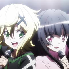 Shirabe and Kirika performing 'Orbital Beat'