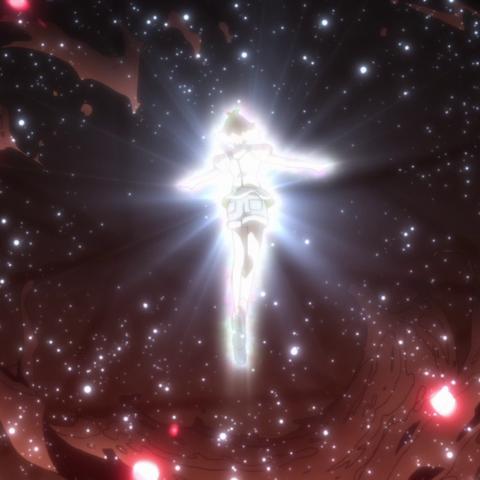Hibiki using Armor Purge.