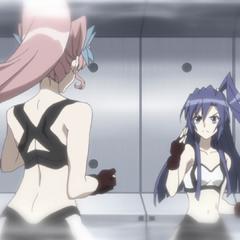 Maria and Tsubasa training