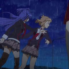 Tsubasa slapping Hibiki