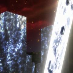 Shem-Ha's silver laser transmuting building in silver