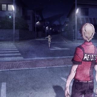 Hibiki runs away from her father.