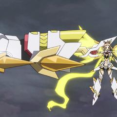 Hibiki's Armed Gear in GX 'Gigantic Fist'