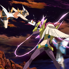 Hibiki fighting against Finé