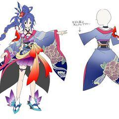 Tsubasa's Furisode Gear Concept Art