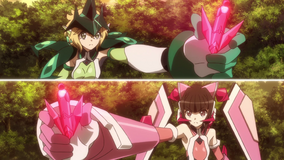 Kirika and Shirabe activates Ignite Module