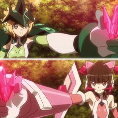 Kirika activating her (Igalima's) Ignite Module.