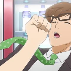 Ryoko punching Ogawa