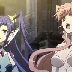 Tsubasa and Maria in defenseless state