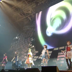 Ai along with Aoi, Nana, Ayahi, Yōko and Yoshino singing <a href=