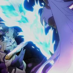 Shem-Ha clashes with Tsubasa
