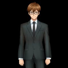 Shinji as Tsubasa's Manager