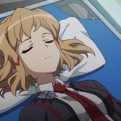Hibiki sleeping