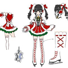 Shirabe's Christmas Gear Concept Art