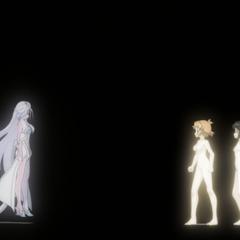 Shem-Ha's spirit meets Hibiki and Miku