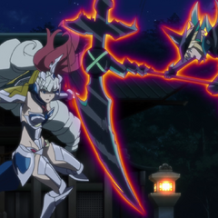 Kirika attacks Saint-Germain