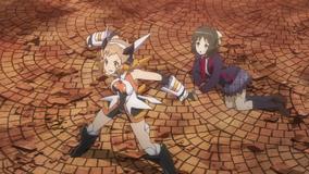 Hibiki protects Miku