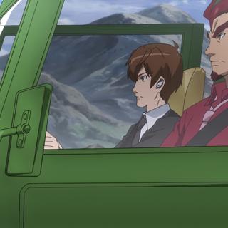 Shinji driving <a href=