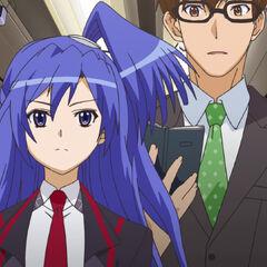Tsubasa with Shinji acting as Tsubasa's manager
