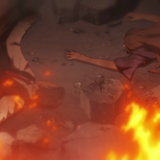 Masanori and Sonnet after being killed in the bombing.