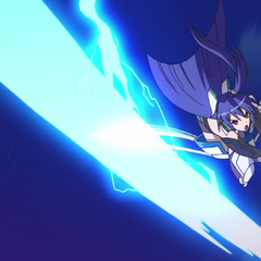 Tsubasa attacking Noise with her sword
