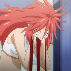 Kanade coughing blood due to LiNKER overdose